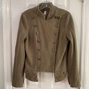 Free people blazer jacket size 10 military green